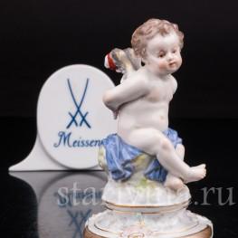 Антикварная фарфоровая статуэтка Купидон со связанными крыльями, Meissen, Германия, кон. 19 - нач. 20 вв.